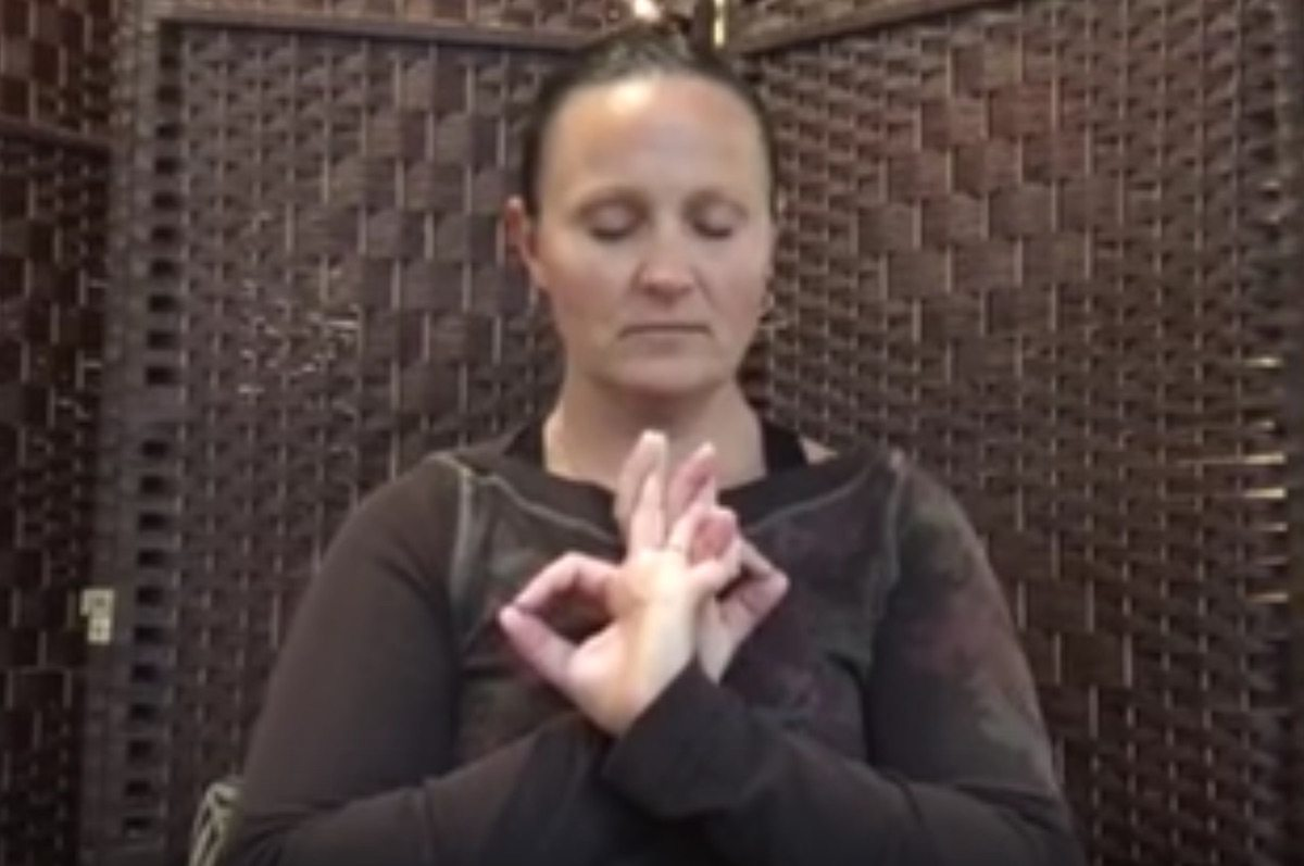 Pose Of The Month: Courageous Heart Mudra