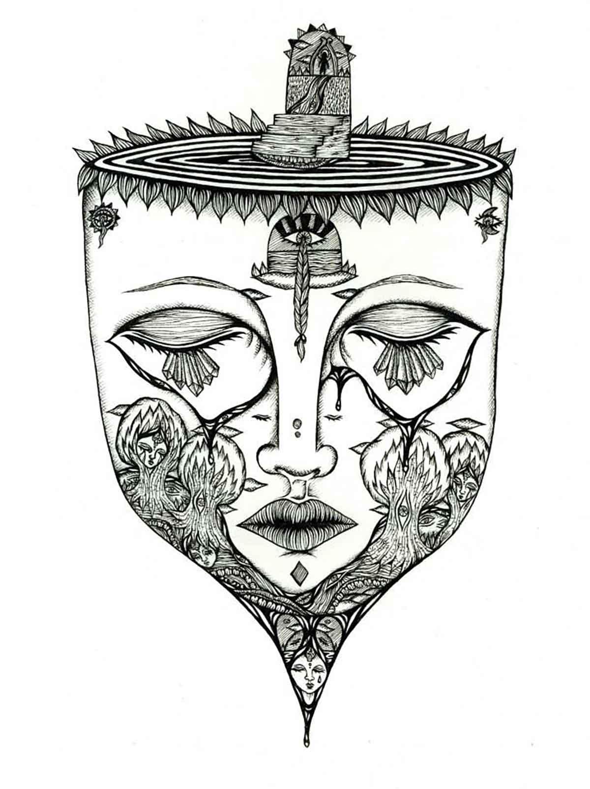 Mask, falling